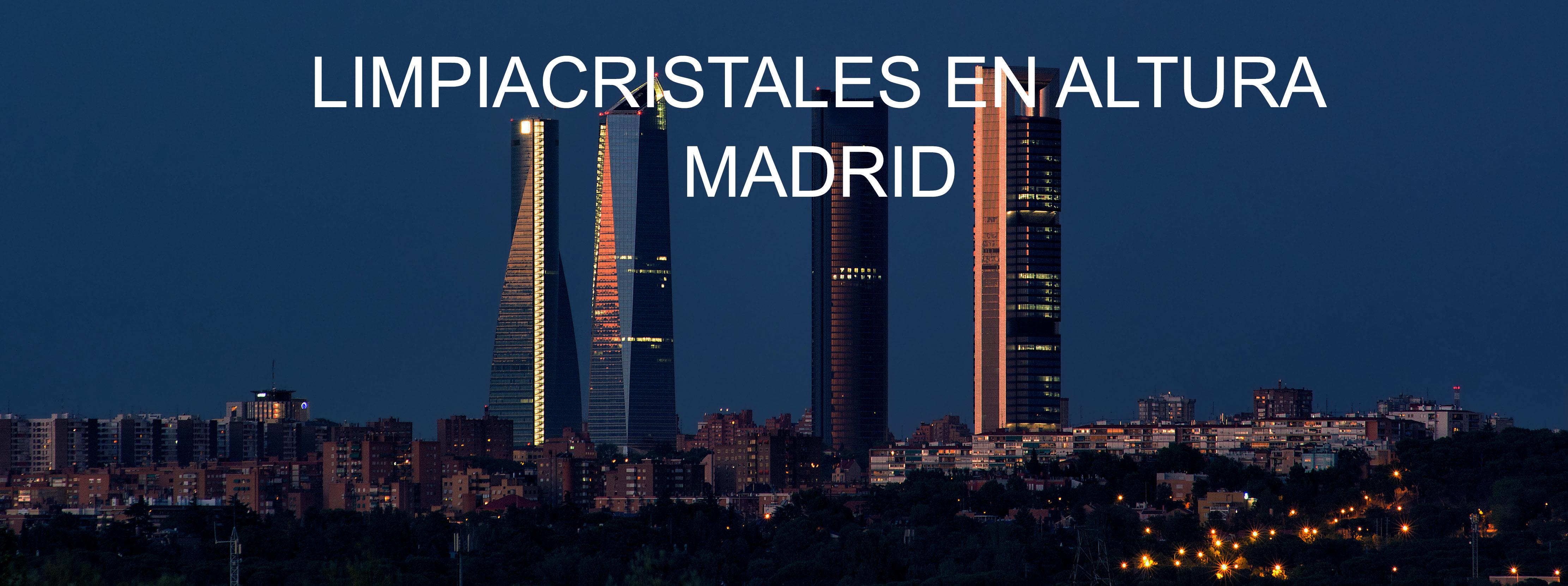 Limpieza de cristales en altura Madrid